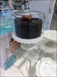 Acrylic Risers for Glass Cake Dome Display