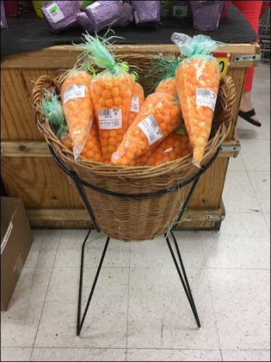Cheese Puff Carrot Wicker Stand
