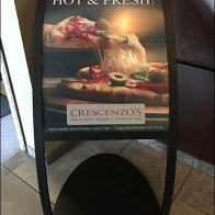 Crescenzo's Curved Arch Pizza Outreach Sign