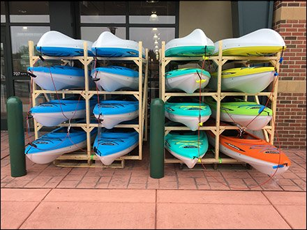 Do-It-Yourself Kayak Merchandising Racks
