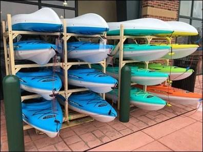 Dicks Sporting Goods Mass Kayak Display 2