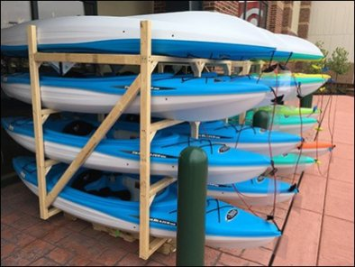 Dicks Sporting Goods Mass Kayak Display 3