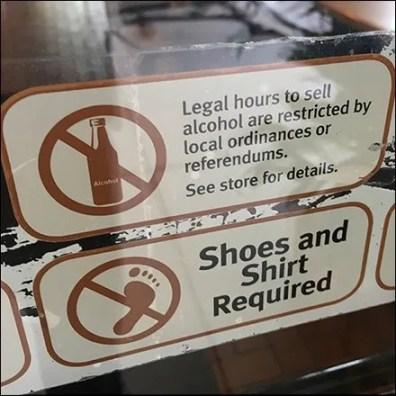 Entry Door Warning Decals For Retail