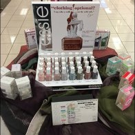 Clothing Is Optional Cosmetics Display by Essie