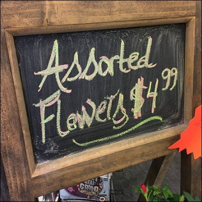 Floral Chalkboard A-Frame Display