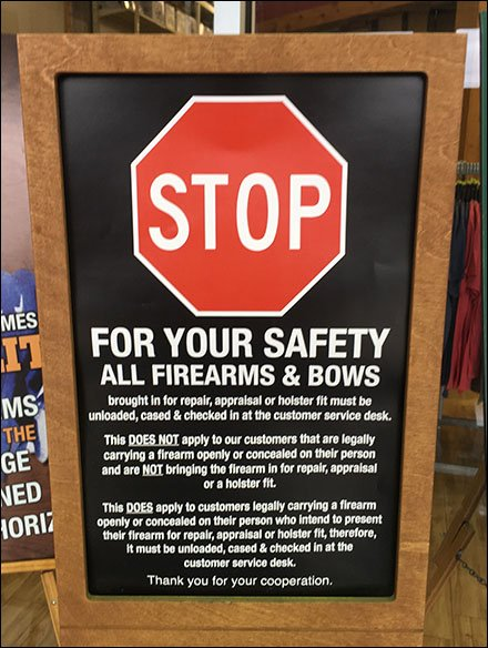 Gander Mountain Firearm & Bow Restrictions
