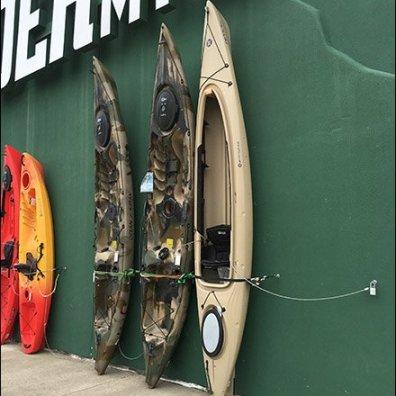 Vertical Outdoor Kayak Display With Anti-Theft