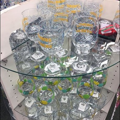 Circular Island The Focus Of Glassware Display