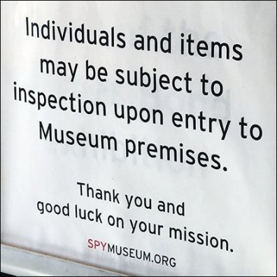 Individuals Subject to Search At Museum Store