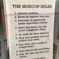 Playing By Moscow Rules Postcard Rack