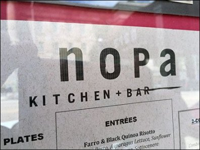 NOPA Kitchen+Bar Framed Outdoor Menu