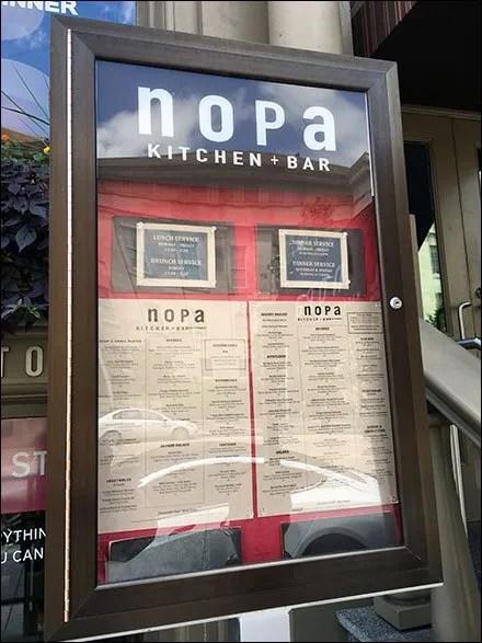 Nopa Kitchen And Bar Menu