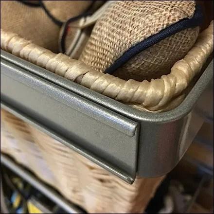 Slatwall Wicker Basket C-Channel Outfitting