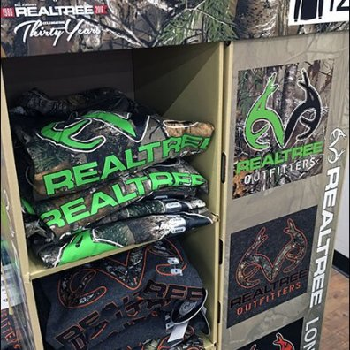 Tractor Supply Company RealTree Outfitters Corrugated T-Shirt Display