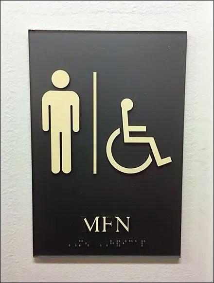 Restroom Identification Sign In Klingon