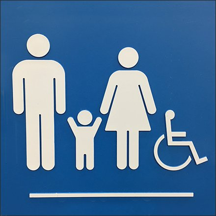 Sams Club Family Restroom Icon Symbol Feature