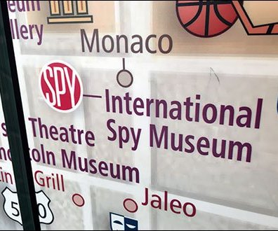 Spy Museum Lobby Location Map Welcome