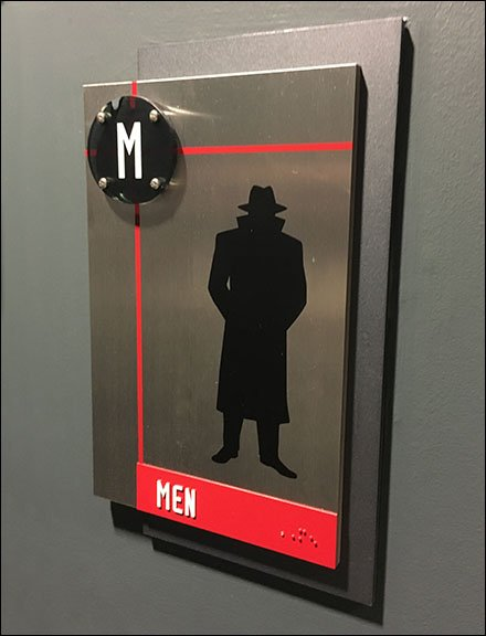 Spy Museum Restroom ID Sign In Detail