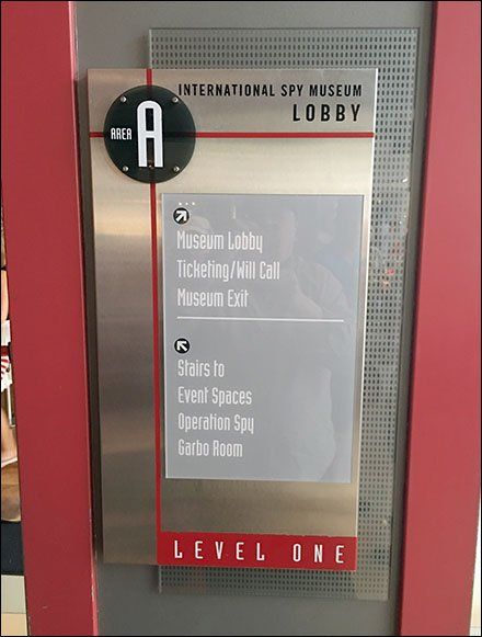 Branded Lobby Navigation and Wayfinding Sign
