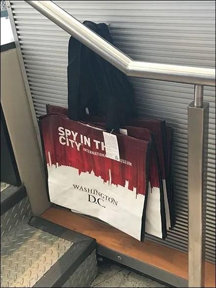 Spy Branded Shopping Bag On Slatwall