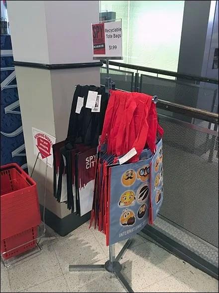 Spy Emoji Branded Shopping Bags