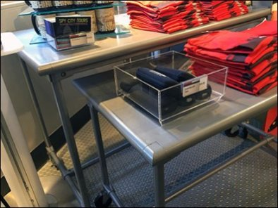 Spy Museum Store Nested Trestle Tables 3