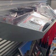 Arched Metal Slatwall Tray As Mini Bulk Bin