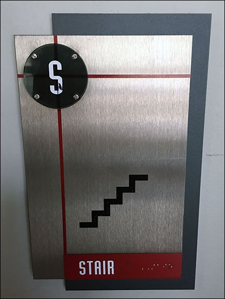 Surreptitious Stair Signage At Spy Museum