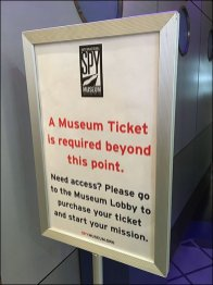 Ticket Required Beyond This Point