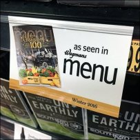 As Seen In The Menu Shelf Edge Label Clip