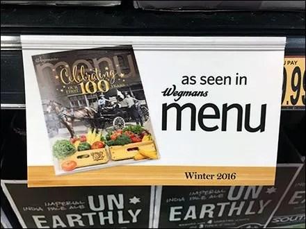 As Seen In The Menu Shelf Edge Label Clip
