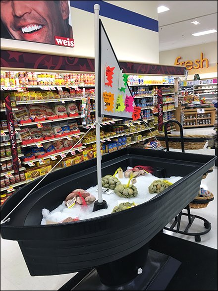 Iced Boatload Offering of Ocean Seafood