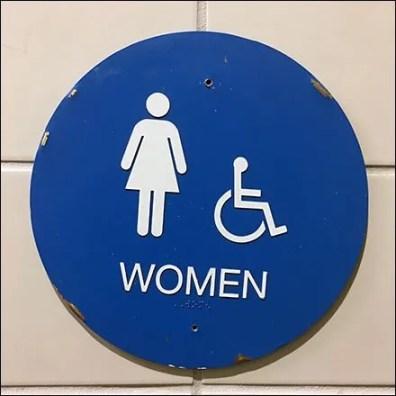 Restroom Gender Sign Shapes In Retail