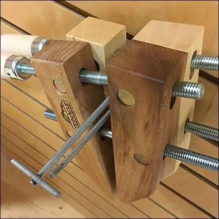 Naked Flip-Front Slatwall Hook For Wood Clamp