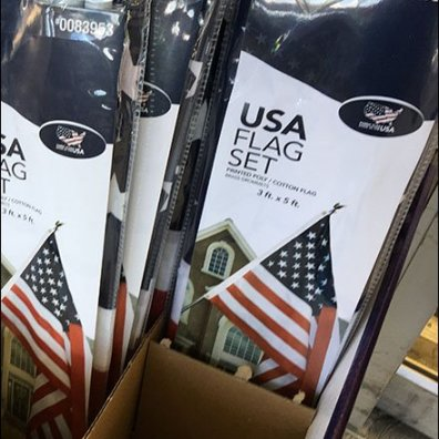 Patriotic Flag Ferver At Less Than Fever Pitch