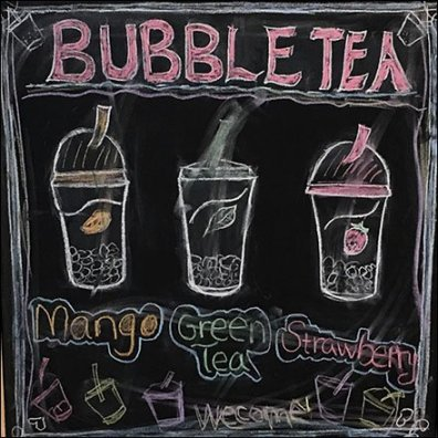 Bubble Tea A-Frame Easel Chalkboard Sign