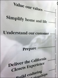 California Closets Mission Statement