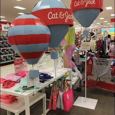 Cat & Jack Hot Air Balloon Merchandising