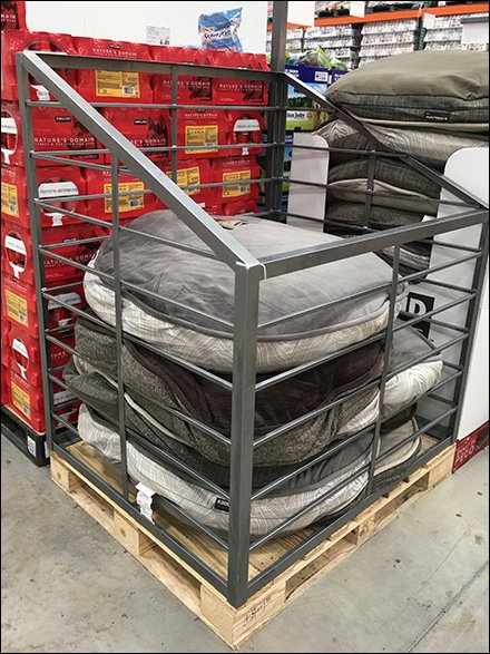 dog bed bulk bin warehouse club outfitting – fixtures close up
