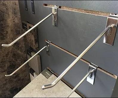 Declined Slatwall Display Hook Sampler 3