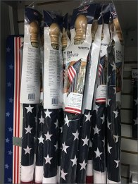 Patriotic Gondola Merchandising Display Continuity
