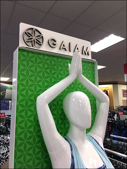 Lifestyle Retail Fixtures and Merchandising - Gaiam Athleisure Yoga Lifestyle Freestanding