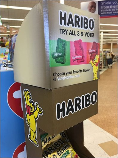 Haribo Gummy Bear Corrugated Tower
