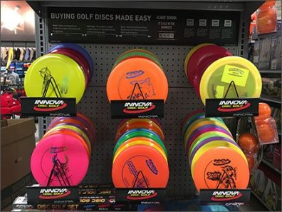 Innova Disk Branded Endcap Display