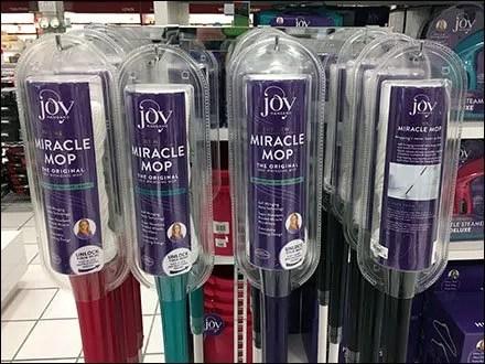 Joy Mangano Miracle Mop Massed Display
