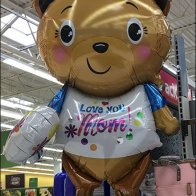 Love You Mom Teddy Bear Inflatable