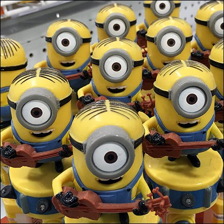 Minions Store Fixtures - Minions March As Shelf-Edge Point-of-Purchase