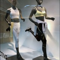 Athleisure Store Window Wayfinding
