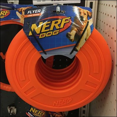 Nerf Pet Flying Disk Straight-Entry Hook