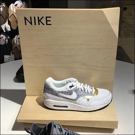 Nike Corner-Fold Sign Branding at Nordstrom